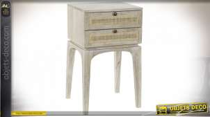 TABLE DE CHEVET MANGUE 42,5X39,8X73,5
