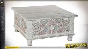 TABLE BASSE MANGUE 90X90X45 BAUL
