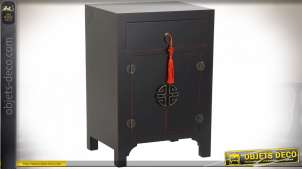 TABLE DE CHEVET SAPIN MDF 45X34X66 ORIENTAL NOIR