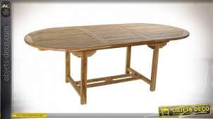 TABLE TECK 240X120X75 NATUREL