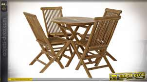 TABLE SET 5 TECK 80X80X75 NATUREL