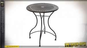 TABLE MÉTAL 61X61X73 NOIR