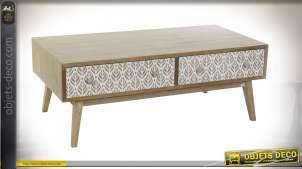 TABLE BASSE PAULOWNIA 120X64X45 FEUILLE NATUREL