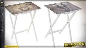 TABLE AUXILIAIRE BOIS 48X35X66 SAUVAGE 2 MOD.