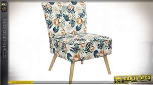 CHAISE POLYESTER BOULEAU 63X66X84 FEUILLES