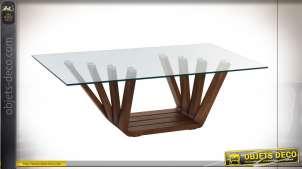 TABLE BASSE NOYER VERRE 130X70X42 10 MM. NATUREL