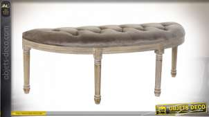 BANQUETTE POLYESTER RUBBERWOOD 125X45X48 VELOURS