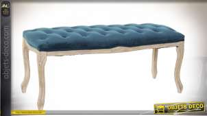 BANQUETTE POLYESTER RUBBERWOOD 110X37X49 VELOURS