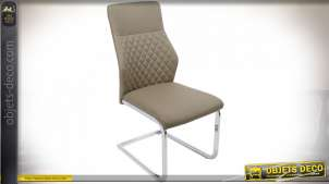 CHAISE PU CHROMAGE 56X43X99 BEIGE