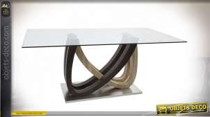 TABLE VERRE MDF 180X90X76 10 MM. TRANSPARENT
