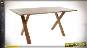 TABLE ACACIA 160X90X75 40 NATUREL