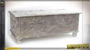 TABLE BASSE MANGUE MÉTAL 130X61X50 37KG. BAUL