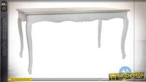 TABLE BOIS 160X80X79 NATUREL BLANC