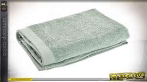 Serviette de bain en coton épais, couleur vert menthe douce, 70x140