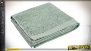 Grande serviette de bains en coton finition vert menthe, douce et épaisse, 100 x 50 cm