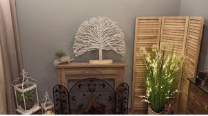 Grande décoration à poser en forme d'arbre en bois flotté, ambiance bord de mer chic, 83cm