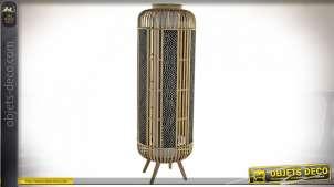 LAMPADAIRE BAMBOU 33X33X97 IKAT NATUREL