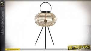 LAMPADAIRE BAMBOU MÉTAL 34X57,5 NOIR