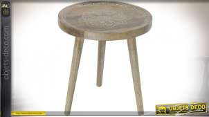 TABLE AUXILIAIRE MANGUE 44X44X48 NATUREL