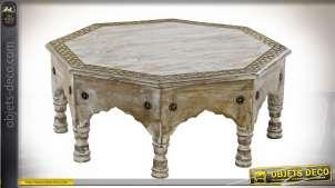 TABLE AUXILIAIRE MANGUE LAITON 53X53X22 DÉCAPAGE
