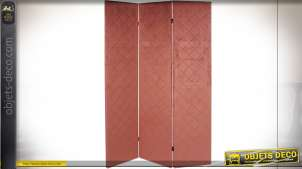 PARAVENT POLYESTER 124X3X172 ROSE