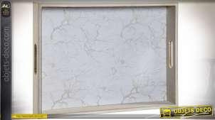 PLATEAU BOIS 40X30X5 ORIENTAL BLANC