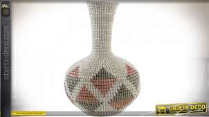 VASE SEAGRASS 32X32X49 ROUGE