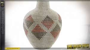 VASE SEAGRASS 36X36X45 ROUGE