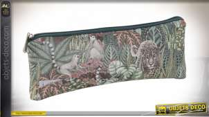 TROUSSE DE TOILETTE PU 20X1,5X8 0,03 JUNGLE VERT