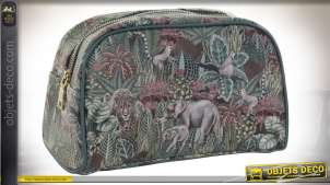 TROUSSE DE TOILETTE PU 26X12,5X16 0,18 JUNGLE VERT