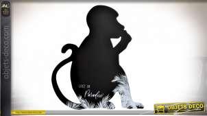 TABLEAU NOIR BOIS 35X1X40 BLACK PARADISE NOIR