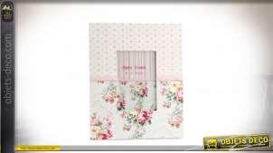 Cadre pour photo de 9x13cm, style ancienne demeure, motifs romantico vintage fleuri