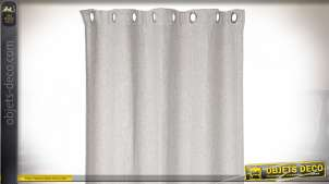 RIDEAU POLYESTER 140X270 370 GSM. LISSE OPAQUE