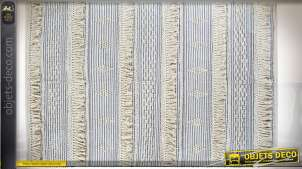TAPIS COTON 230X160 1600 GR. BLEU