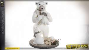 FIGURE POLYESTER POLYSTYRENE 48X48X68 OURS BLANC