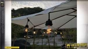 GUIRNALDA LED CRISTAL 6X740 6LEDS E27 SPIRAL IP44