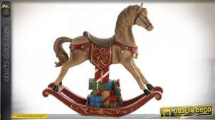 FIGURE LED RÉSINE 34X10X32 CHEVAL MARRON