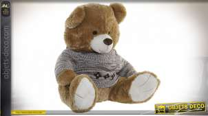 PELUCHE POLYESTER 60X60X57 OURS MARRON