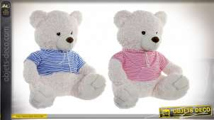 PELUCHE POLYESTER 55X55X57 OURS 2 MOD.