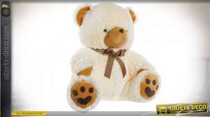 PELUCHE POLYESTER 60X48X60 OURS BEIGE