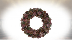 COURONNE  46X8.5X46 ROSE