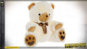 PELUCHE POLYESTER 50X38X50 OURS BEIGE