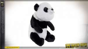 PELUCHE POLYESTER 25X35X40 0,58 OURS PANDA