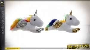 PELUCHE POLYESTER LED 40X20X25 0,45 LICORNE 2 MOD.