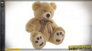 PELUCHE POLYESTER 35X30X41 OURS MARRON CLAIR