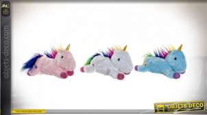PELUCHE POLYESTER LED 36X15X22 LICORNE 3 MOD.