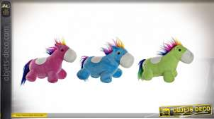 PELUCHE POLYESTER LED 33X20X26 CHEVAL 3 MOD.