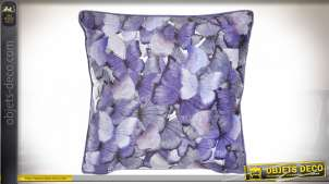 COUSSIN POLYESTER 45X45 540 GR. PAPILLONS LILAS