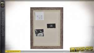 PORTE-PHOTOS BOIS CORDE 38,5X2,3X48,5 MUR BEIGE
