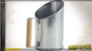 Pelle à pellets en zinc